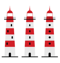 Lighthouse set vector