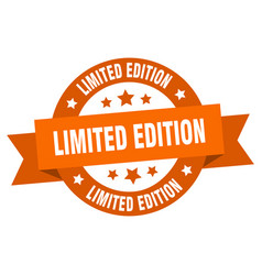 limited edition ribbon limited edition round vector image