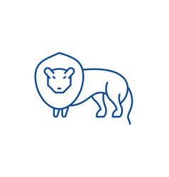 lion line icon concept lion flat symbol vector image