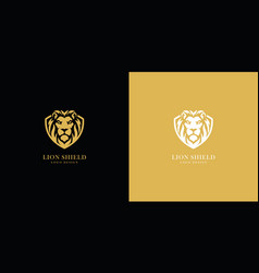 Lion shield logo vector