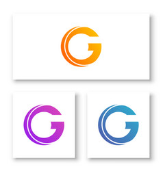 logo letters c and g with abstract shapes vector image