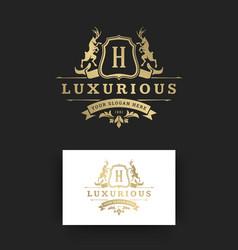 Luxury logo monogram template design vector