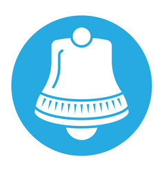 Notification alert bell - flat colour icon vector
