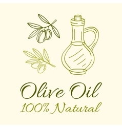 Olive Oil Label vector image