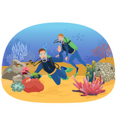 people swimming in vector image