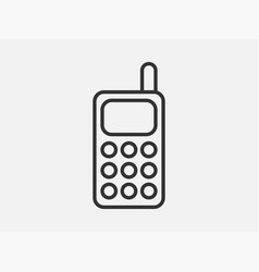 phone toy icon on white background line style vector image