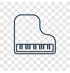 piano concept linear icon isolated on transparent vector image