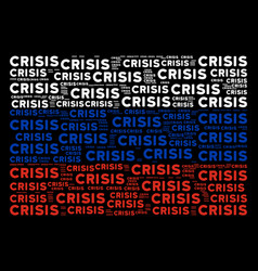 Russian flag collage of crisis texts vector