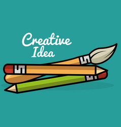 school supplies creative ideas vector image