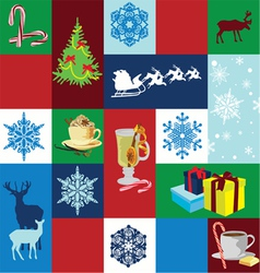 seamless background Christmas holidays vector image