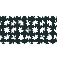 Seamless pattern with puzzle vector