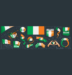 set national flag ireland vector image