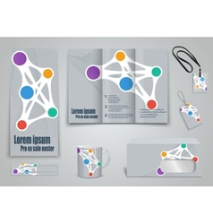 Set of presentation of flyer design content vector image