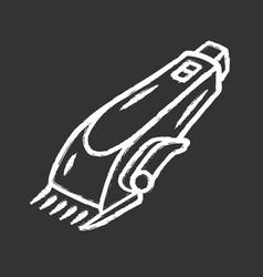 Shaving machine chalk icon haircutting procedure vector