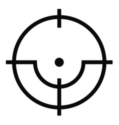 Sniper icon simple style vector