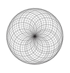 spirograph element on white background abstract vector image