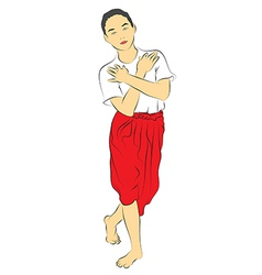 Thai national dances vector