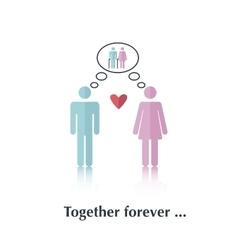 Together forever vector