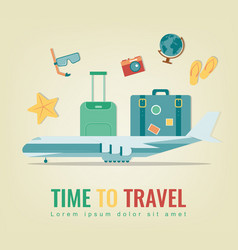 Travel background summer holidays travel and vector