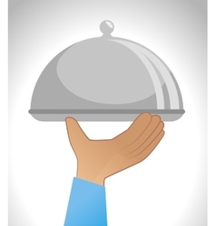tray dish server icon vector image