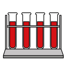 tube test with blood vector image