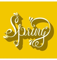 Typographic Lettering - Spring vector image