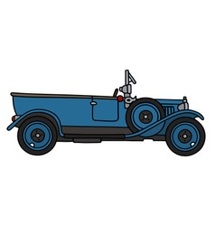 Vintage blue car vector