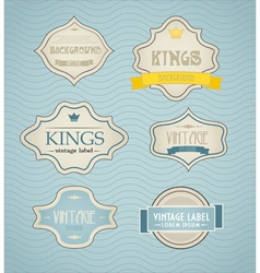 vintage labels discount labels set vector image