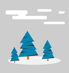 winter forest with snow vector image