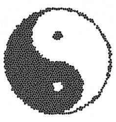 Yin-yang mosaic vector