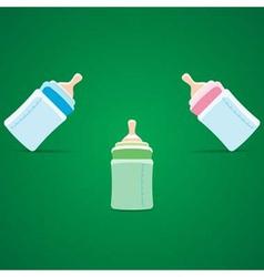 baby bottle vector image vector image