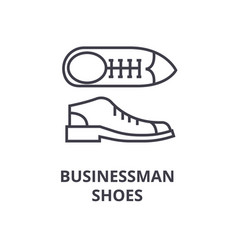 businessman shoes line icon outline sign linear vector image