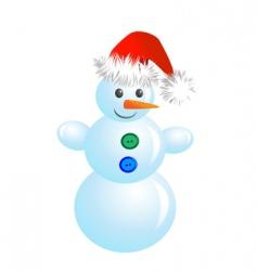 Christmas snowman vector image vector image