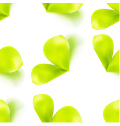 seamless pattern with sprout leaves vector image