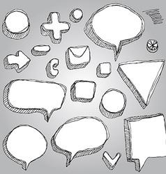 set of banners arrows symbols sketch contour pen vector image vector image