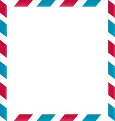 Air mail frame on white background vector image vector image