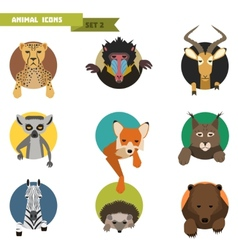 Animal avatars vector