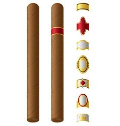 cigar 02 vector image vector image
