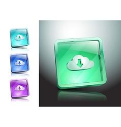 cloud download symbol icon vector image vector image