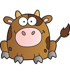 Cow Cartoon Mascot Character vector image