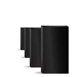 domino black empty vector image