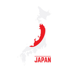 flag and map of japan vector image vector image