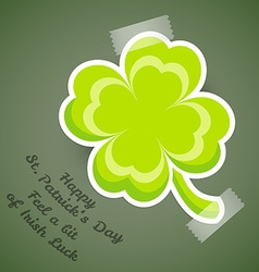 Four-leaf clover adhesive tape vector image vector image