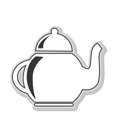 Jug for drinks isolated flat icon vector image