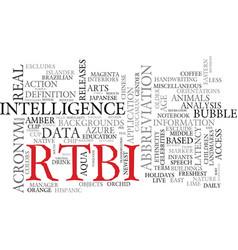 rtbi word cloud concept vector image