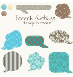 set of different speech bubbles design elements vector image vector image
