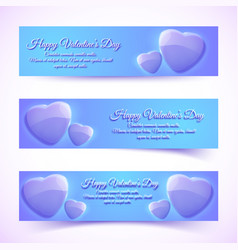 shiny greeting romantic horizontal banners vector image vector image