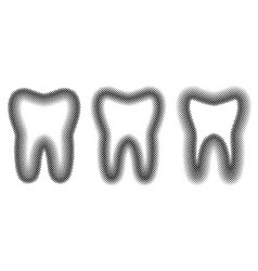 tooth set dots halftone effect vector image