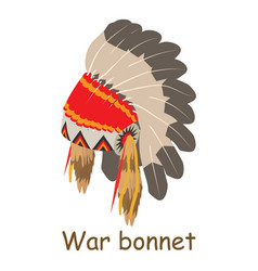 war bonnet icon isometric 3d style vector image vector image