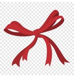 Cartoon red ribbon vector